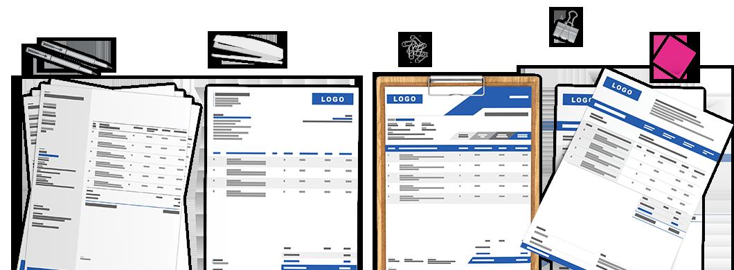 Câștigă încrederea membrilor tăi utilizând <b>contracte și facturi cu design profesionist</b>