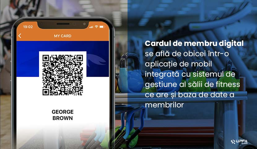 Check-in folosind card digital de membru